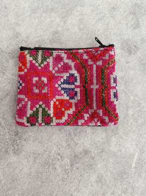 Tones of Pink:  Thai Hmong Velvet Detailed  Purse