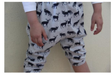 iluca | Brinley Bear Printed Organic Cotton Child Harem Pants - Unisex