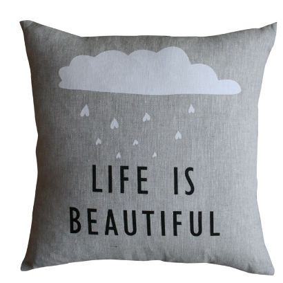 LIFE IS BEAUTIFUL CUSHION