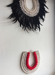Shell + Feather Tribal Wall Piece