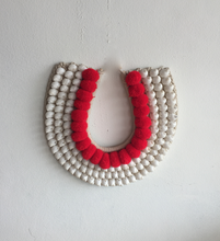Load image into Gallery viewer, Pom Pom Handmade Shell Wall Hanging Neck Tribe Decor