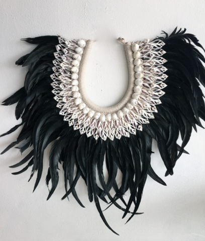 Large Size Wall Shell + Feather Headdress