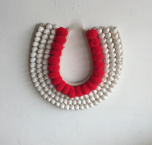 Pom Pom Handmade Shell Wall Hanging Neck Tribe Decor