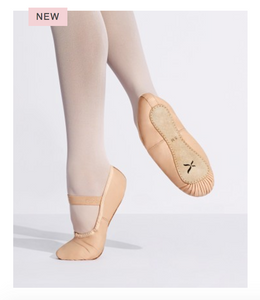 Capezio Clara Adults pink full sole leather ballet shoe