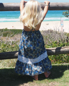iluca the label | Maddison Blue  Vintage Crochet Smock Kids