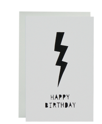 ME AND AMBER - LIGHTNING BIRTHDAY CARD
