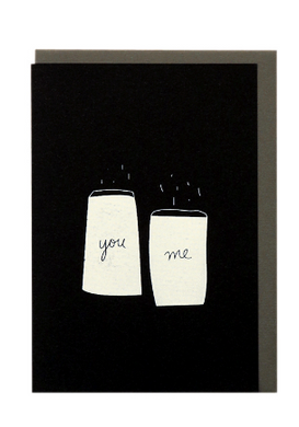 ME AND AMBER - PLUS YOU AND ME SALT N PEPPER CARD