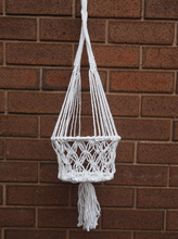 Load image into Gallery viewer, White Macrame Plant Hanger