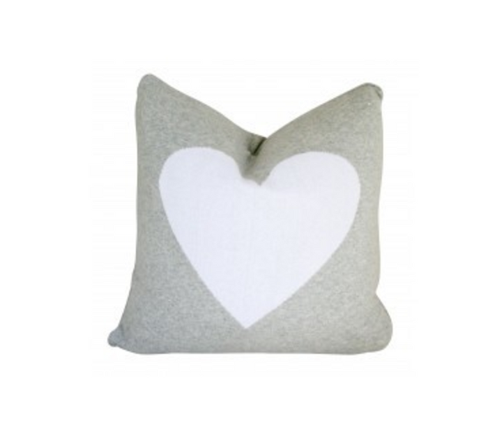 ALIMROSE KNIT HEART CUSHION 45CM X 45CM