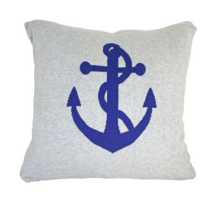 ALIMROSE KNIT ANCHOR CUSHION 45CM X 45CM