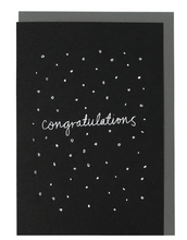 Load image into Gallery viewer, ME AND AMBER: PLUS CONFETTI CONGRATULATIONS BLACK SCREEN PRINTED CARD