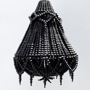 'Boho Fringe' Detailed Chandelier By My Design Store Black