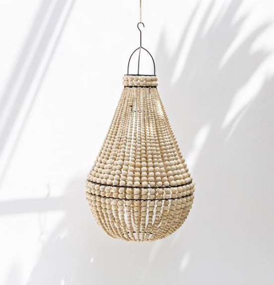 Pendant Drop Beaded Chandelier Pendant light in Natural