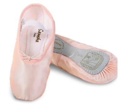 SANSHA SATIN PINK AND PEARL  BALLET SHOES