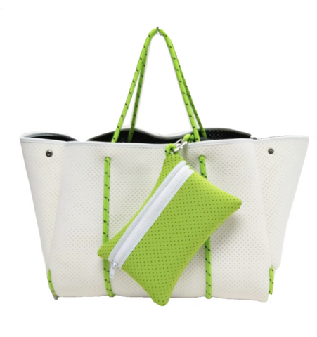NEO BY GERRY // SAIL AWAY WHITE + NEON GREEN
