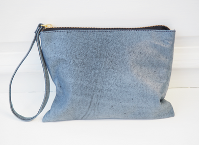 MY STORE X TWO - Oceania Blue Crush Soft Leather Clutch