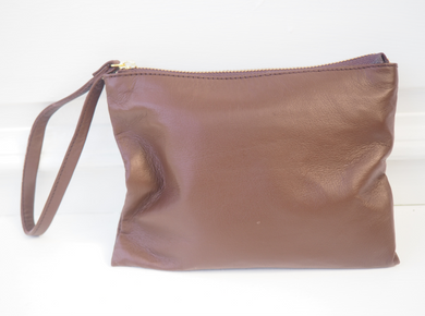 MY STORE X TWO - Lush Classic Brown Soft Leather Clutch