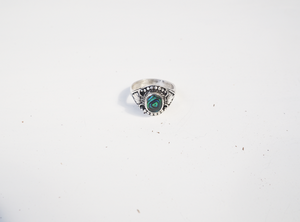 Handmade Opal Ring with Antique style detailing