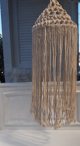 Macrame Twisted Light Shade Hanging