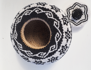 Black Woven and Beaded baskets