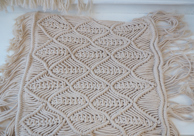THICK MACRAME 3D WAVE PATTERN CUSHION