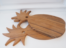 Load image into Gallery viewer, PINEAPPLE MANGO WOOD SERVING BOARD