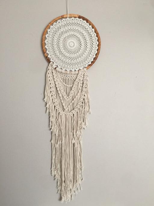 MACRAME DETAILED LARGE SIZE DREAMCATCHER- TWISTED TROPICS