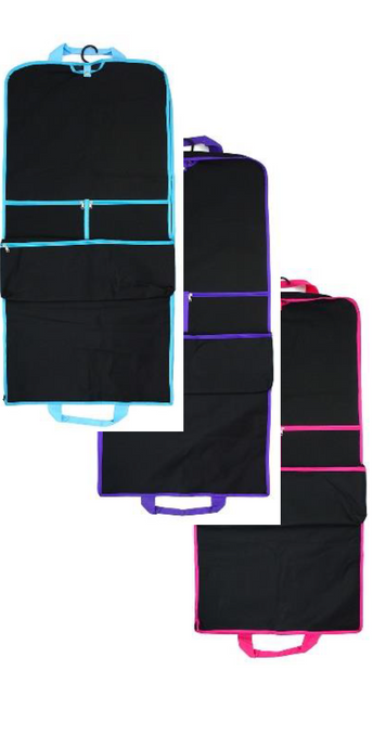 Costume Bag Long Black Available Blue, Purple & Pink Trim
