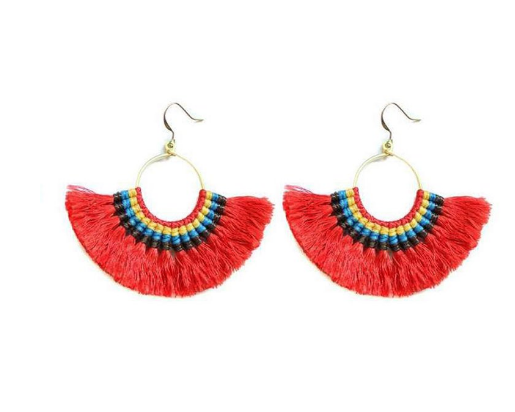 Tassel Earrings (Tomato)