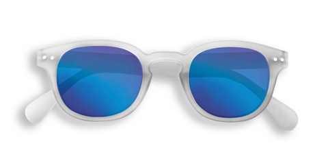 IZIPIZI Paris Sun Collection Junior #C White Crystal with Blue Mirror Lense