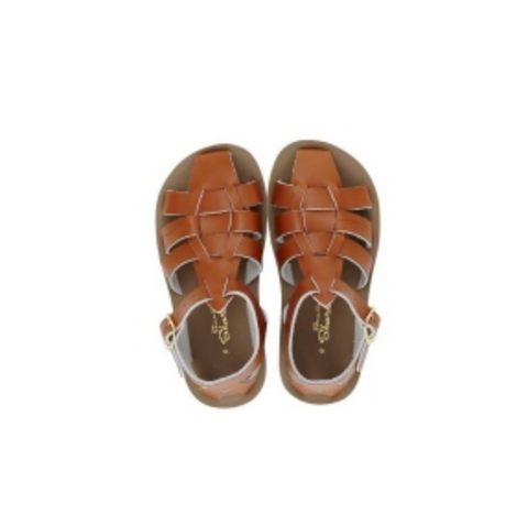 SALT WATER SANDALS Sharks - Tan - Child