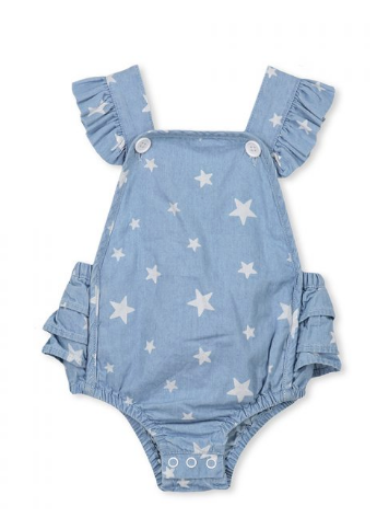 Milky - Baby Girl Chambray Playsuit