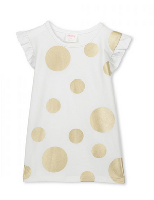 Milky - Girls and Baby Metallic Spot Tee