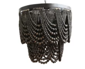 'CLASSIC DROP' BEADED CHANDELIER BY MY DESIGN STORE- BLACK