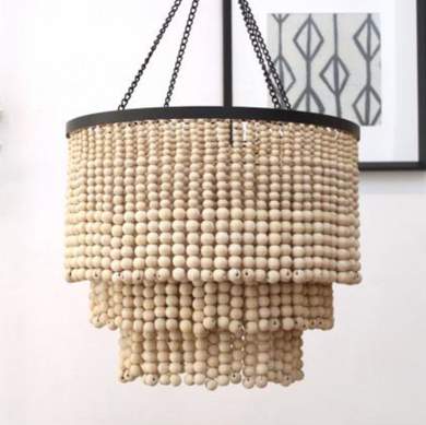 Deco Drop Fringe Beaded Pendant Light Chandelier