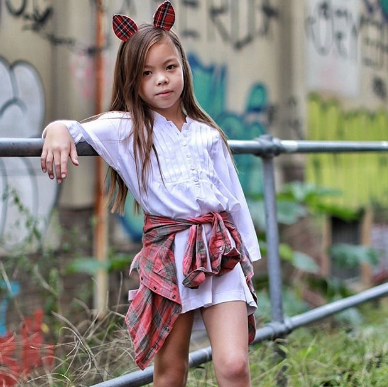 ILUCA THE LABEL: BELLE SLEEVE WISH DRESS / WHITE ( Kids Version)