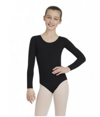 Capezio long sleeve basic leotard in black