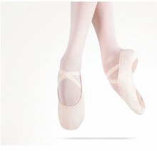 Load image into Gallery viewer, MDM Performance Intrinsic Canvas Hybrid split sole pink ballet slipper - child