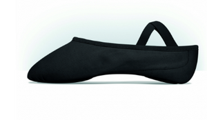 MDM Performance Intrinsic Canvas Hybrid split sole black ballet slipper - child