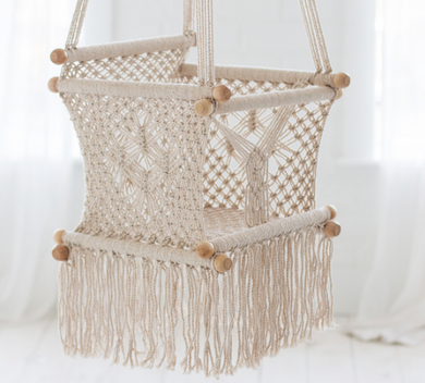 Boho Childrens + Baby Macrame Swing By My Design Store.