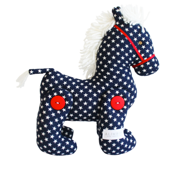 Alimrose | Jointed Pony 22cm Navy Polka