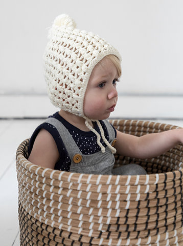 Miann + Co- CREAM CROCHET BONNET