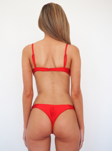 ZEPHY RED SEAMLESS BIKINI PADDED BRALETTE SET - GERRY CAN
