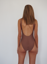 Load image into Gallery viewer, BOND ICONIC ONE PIECE / Nude colour, high cut leg and deep scoop back and front one piece swimsuit.GERRY CAN