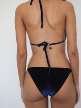Load image into Gallery viewer, FAWCETT DEEP NAVY BLUE- VELVET STRING BIKINI SET - GERRY CAN