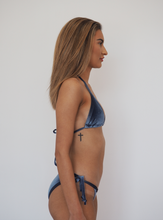 Load image into Gallery viewer, ICEBERG BLUE - VELVET STRING BIKINI SET - GERRY CAN