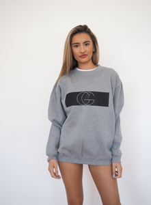 GC MONO BOYFRIEND SLOPPY JOE in grey marle oversize fleece GERRY CAN