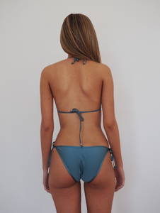 PARADISO STRING METALLIC BIKINI SWIM SET TRIANGLE - STAR DUST BLUE - GERRY CAN