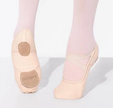 capezio hanami ballet shoes light pink stretch canvas