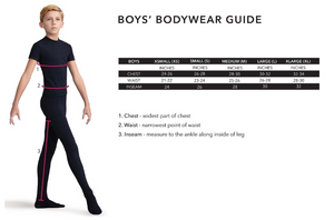 Capezio - Short Sleeve Leotard - Boys - 10390B